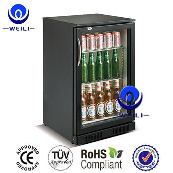 2896f9c4d2e67 Refrigerador comercial da cerveja da exposição da porta de vidro moderada e  mini congelador