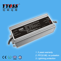 Constant current led driver 1400ma,active PFC(0.95),EMC standards 5 years warranty