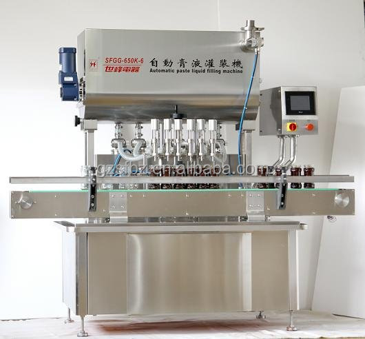 China Six Heads Thick Liquid Filling Equipment For Ketchup/ Edible Oil/ Honney/ Chilli Sauce