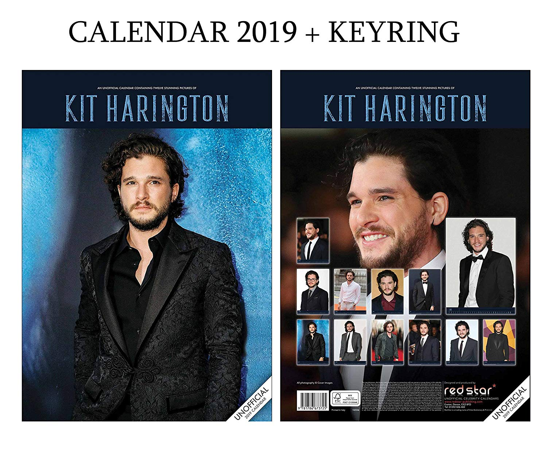 KIT Harington Calendar 2019 (A3 Poster Size) + KIT Harington Keyring