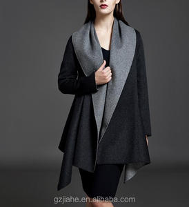 Fashion women woolen coat available outside or inside dress swing overcoat