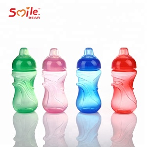 Manufacture BPA Free Plastic Kids Water Bottle Baby Sippy Cup