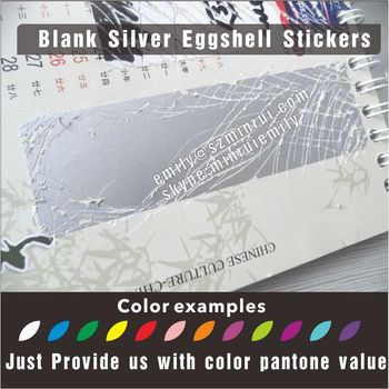 Self Adhesive Silver Ultra Destructible Vinyl Labels