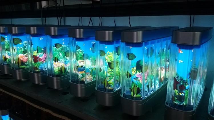 Colorful night light aquarium decorative 12v electric for Fake artificial aquarium fish tank