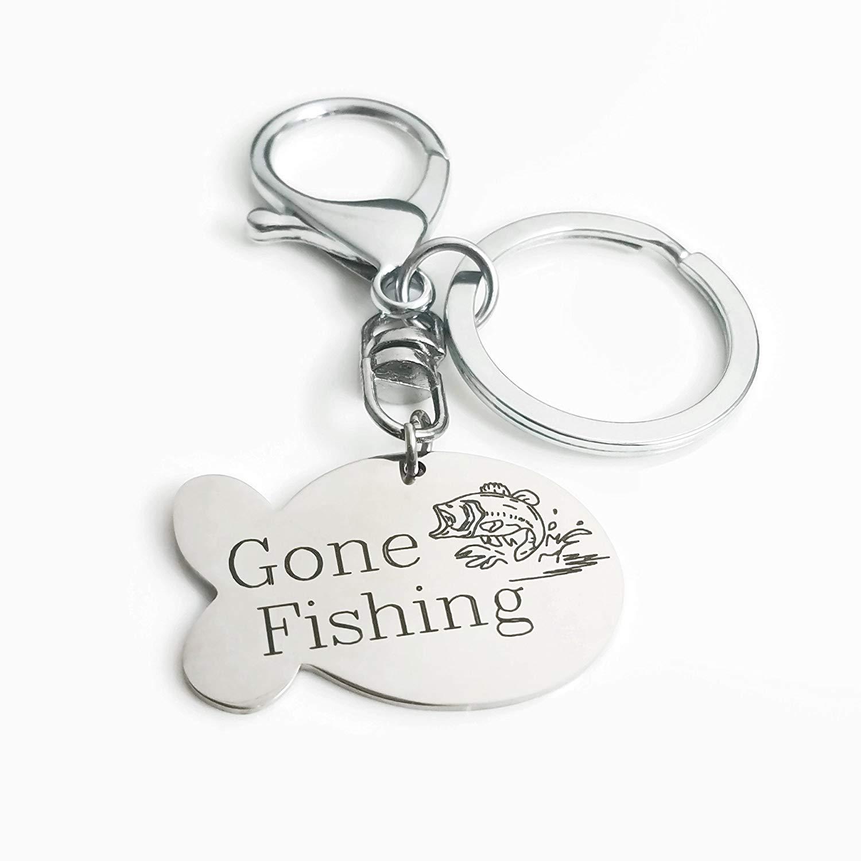 Dad//Papa fish keychain Stamped fish keychain fishing buddies papa keychain keychain grandpa keychain Stamped Jewelry fish keychain stamped fish grandkids