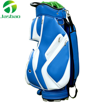 Factory Price Customized logo Genuine Waterproof PU Leather Adult Golf Standard Cart bags