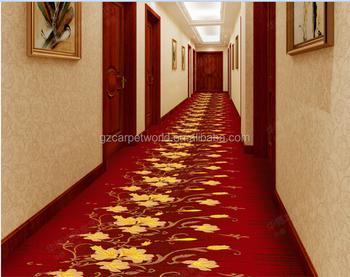 Moderne tapijt ontwerp hotel corridor wilton rode tapijt runner
