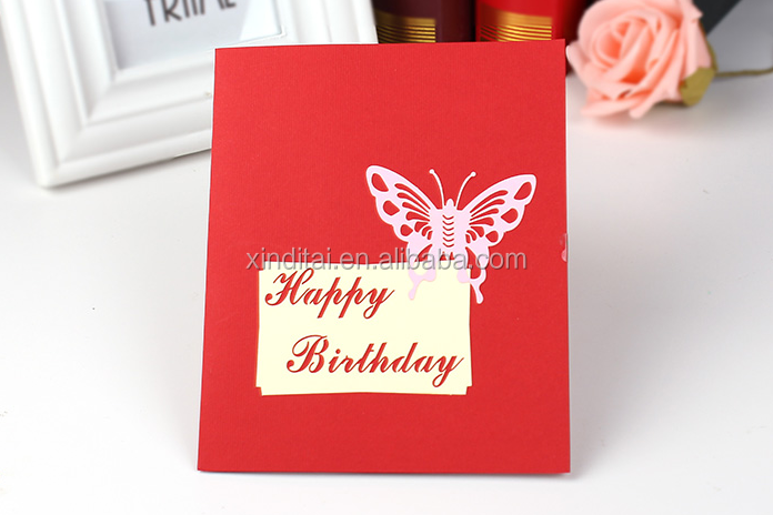 New Design 3d Cake Pop Up Handmade Birthday Cards Personalized ...