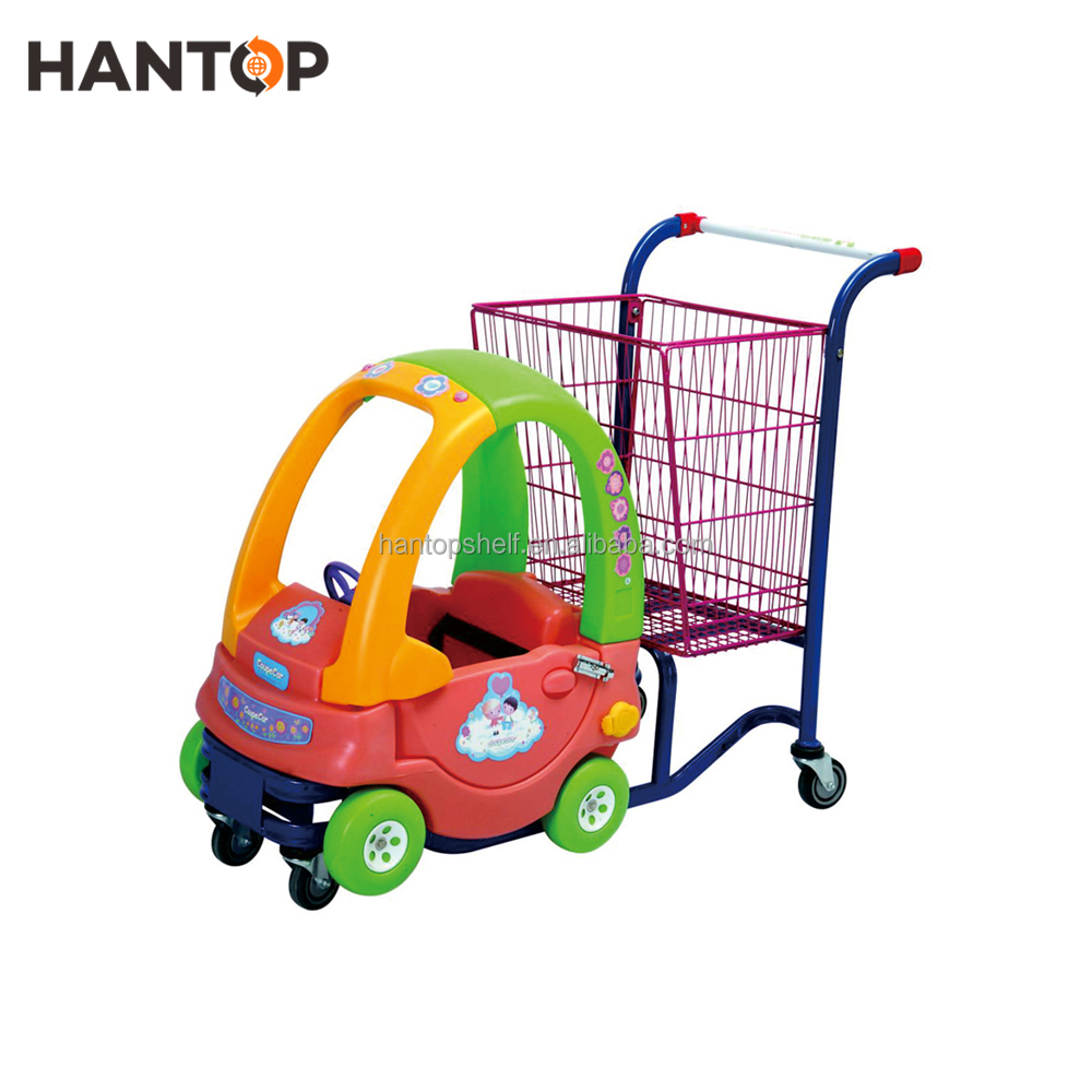 Plastic and Metal Shopping Child Trolley For Supermarket HAN-K01 4862