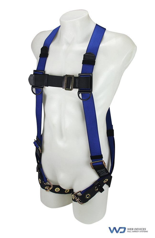 Web Devices Polyester Full Body Harness Blue size (M-XL) H39112