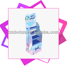 Promotional 4 tiers cardboard display stand for sanitary napkin
