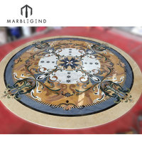 high end polished waterjet medallion marble floor design pictures