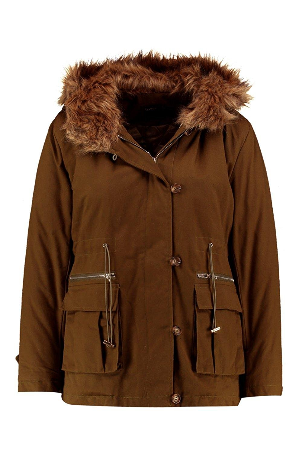 HTOOHTOOH Mens Winter Warm Hooded Solid Parka Padded Coat Quilted Jacket Outwear