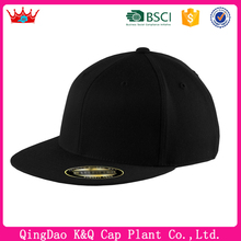 Hot sell high quality black flex fit hats for man and women