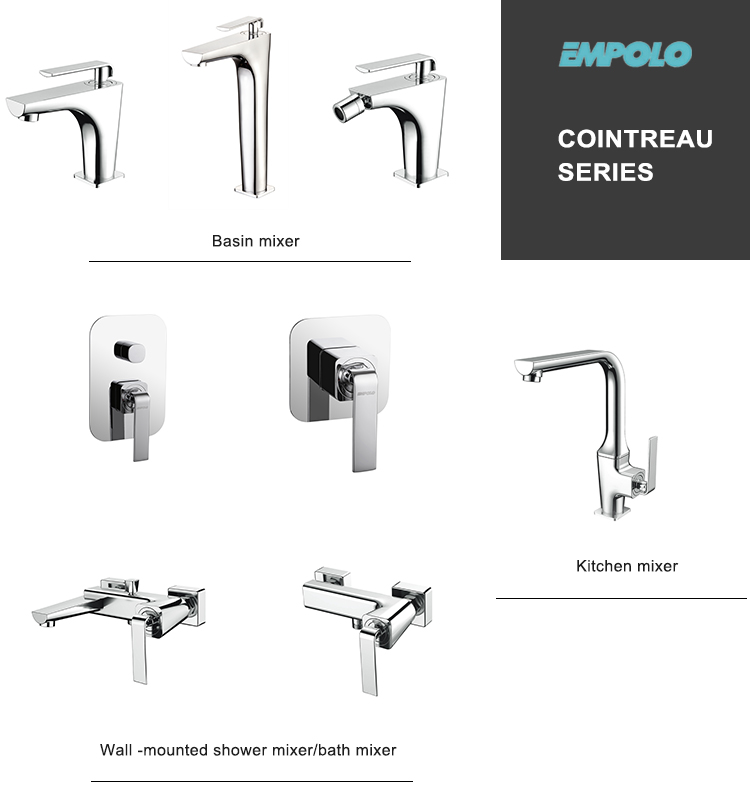 Sanitary Ware Wall Mounted Hotel Bathroom Complete Head Hand Bath Rain Shower Faucet Mixer Set