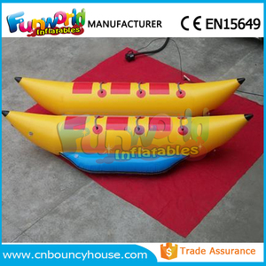 Top inflatable Towable Tube water toys inflatable banana boat for sale
