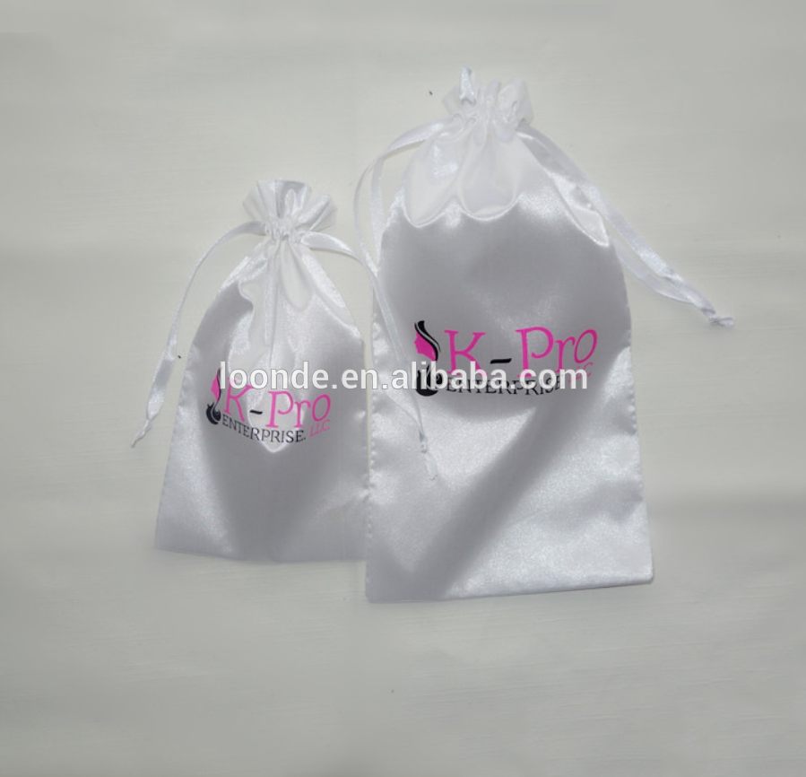 China wholesale white satin hair extension storage clutch bag