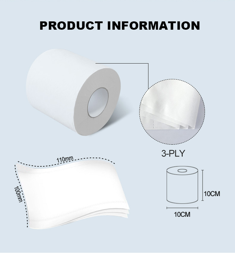 Soft and strong water absorbtent toilet tissue paper made in China