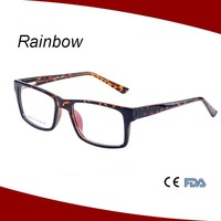 2016 Gradient color plastic eyeglass coloful spectacle frames factory cheap price