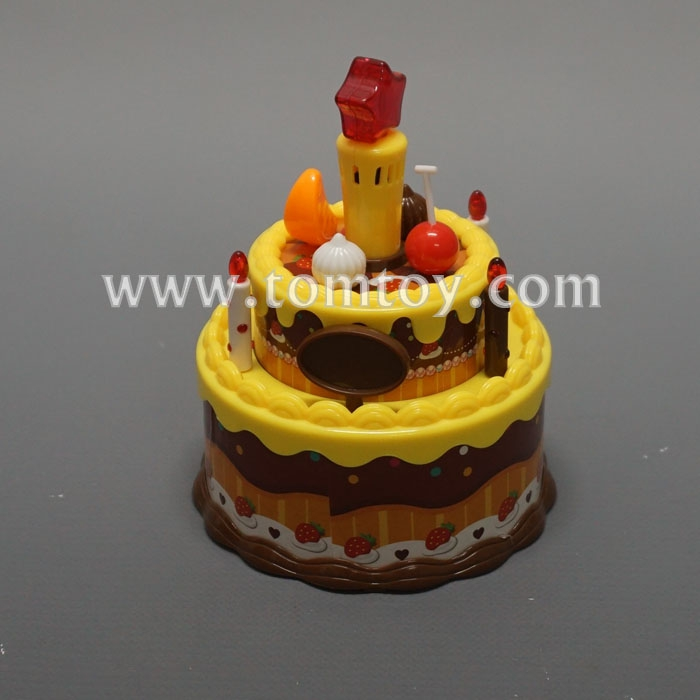 Tomtoy Plastic Toy LED Happy Birthday Cake