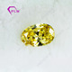 Top quality factory price oval cut yellow CZ price per carat for jewelry