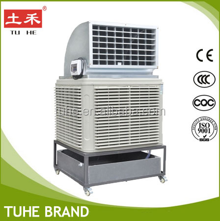 Portable evaporative air cooler warehouse cooling system