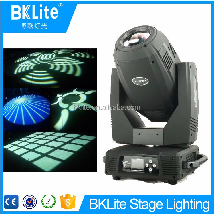 BKLITE Fantasy wedding or party decorations white LED zoom spot light moving head