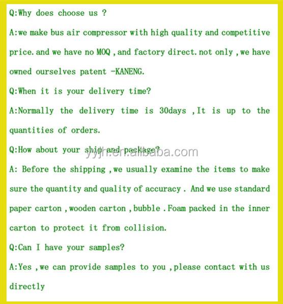 2014 Kaneng Bus Air Auto Refrigerant Compressors,Rotary 12v Dc Air ...