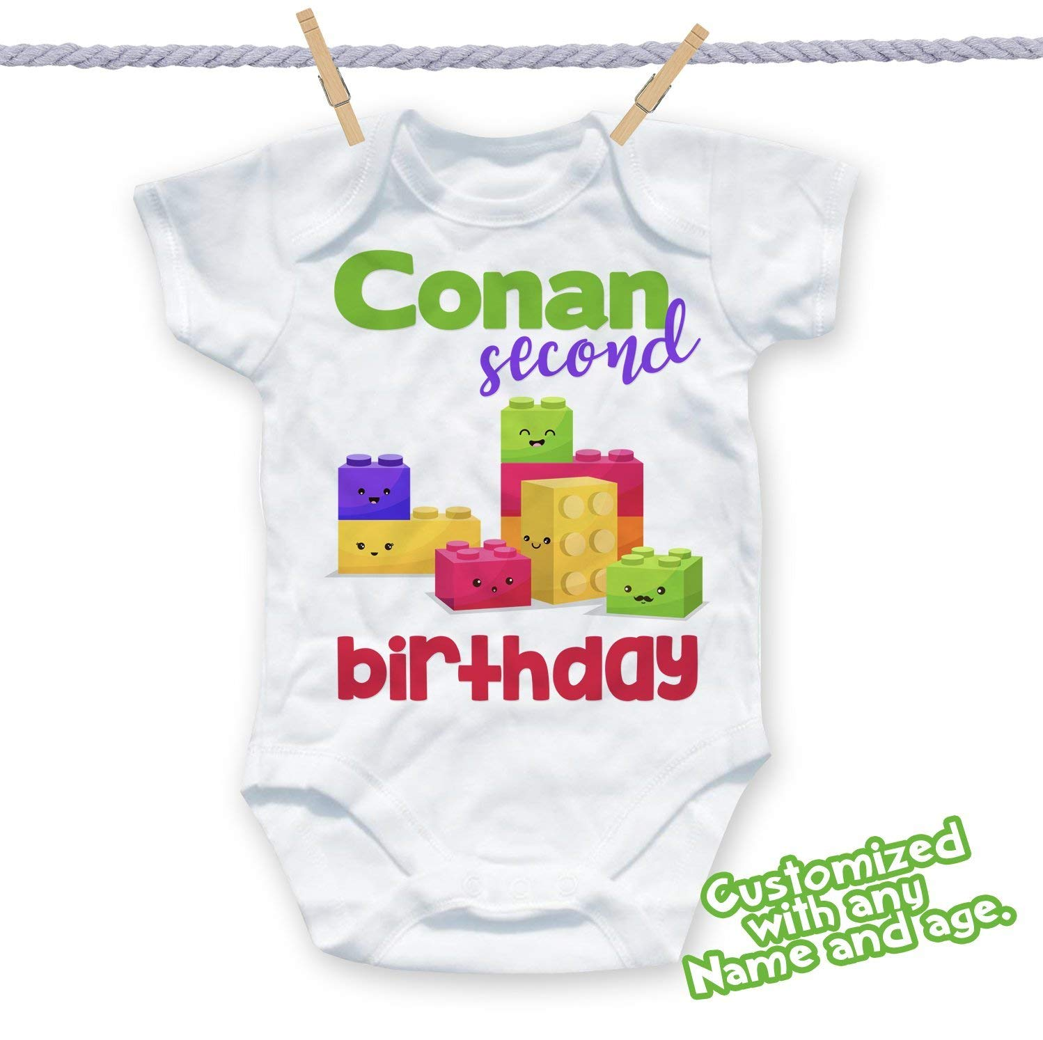 Get Quotations Building Blocks Shirt Custom Birthday Party Kids