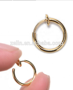 Gold Plated Body Piercing Jewelry Ring Free Lip Rings Fake Nose Ring Lip Piercings