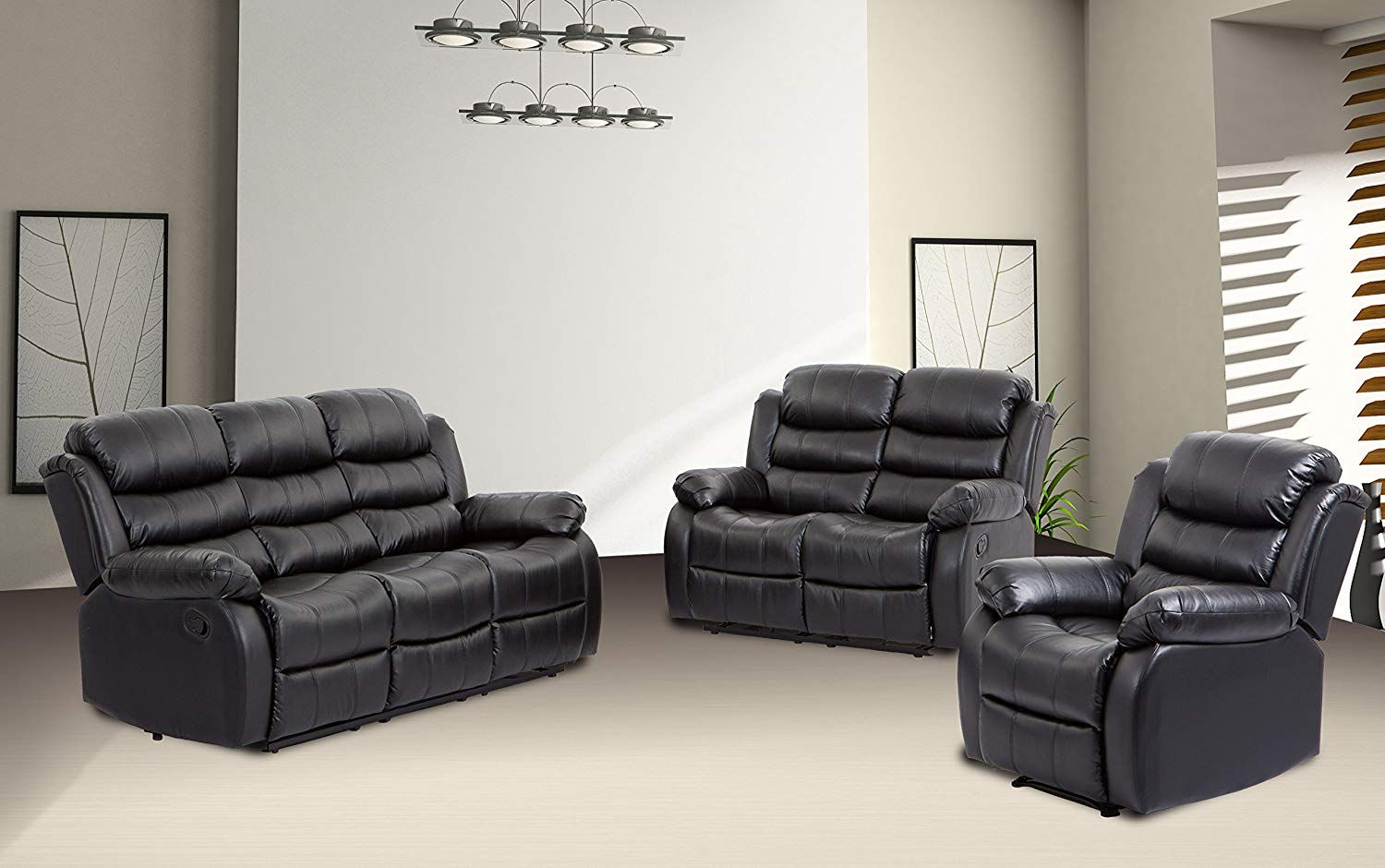 Get Quotations Bestmage Sofa Recliner Set Reclining Chair Sectional Love Seat For Living Room Modern Furniture Clic