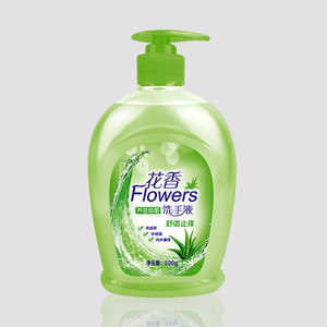 Green color bottled flower flavor hand sanitizer easy washing deep cleaning antiseptic liquid hand sanitizer