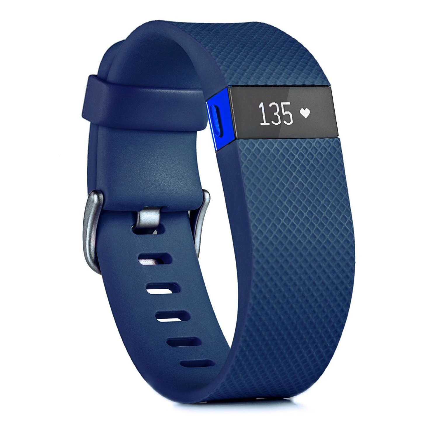 Blue Fitbit Charge HR Activity, Heart Rate + Sleep Wristband (Large)