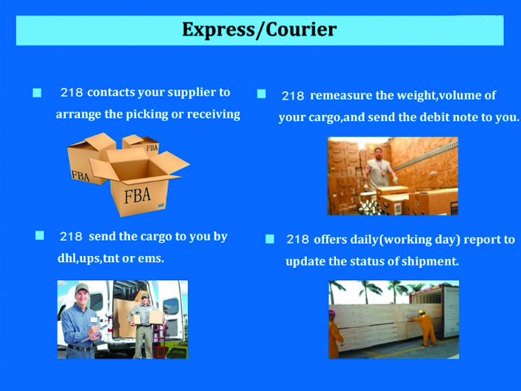 Air shipping agent repacking inspection service to door ddp ddu duty paid to amazon