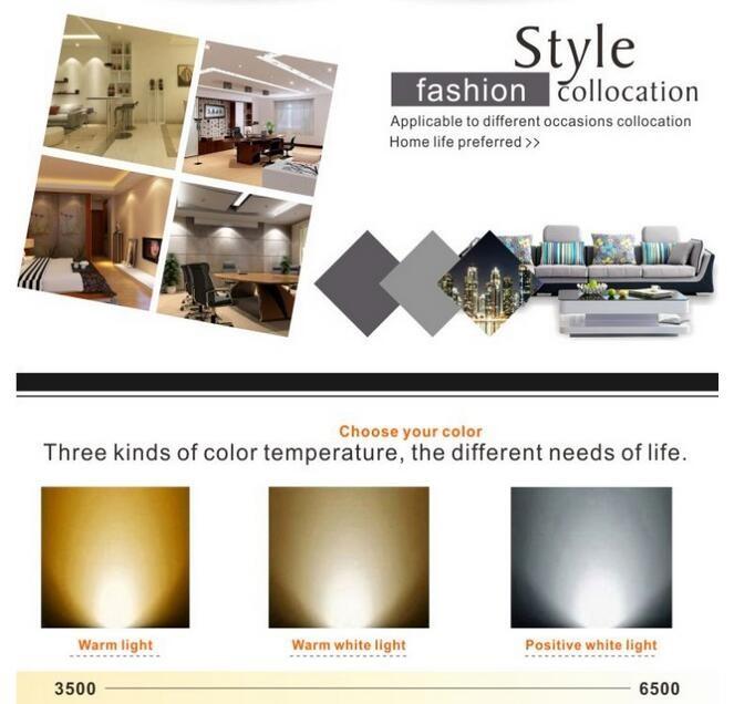 Home Theater Light Color Temperature: 2700-6500k Color Temperature Adjustable Cob Led Down Light