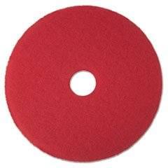"-- Buffer Floor Pad 5100, 17"", Red, 5 Pads/Carton"