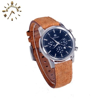 Quality Guarantee leather Watchband men's watches