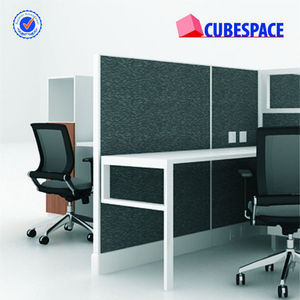 Hot Fabric Divider 4 Person Staff Cubicle Desk for Office Workstation