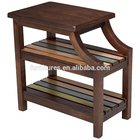 Modern Sofa Side Bedside Teak Small Wood Storage Chairside Table