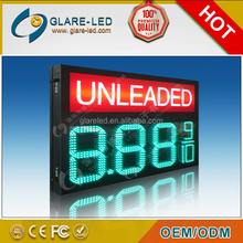 Competitive Price!!! Led Gas Station Sign/Display 12inch Red/Amber/Green/Blue/White 888.8 Outdoor Use Waterproof IP65
