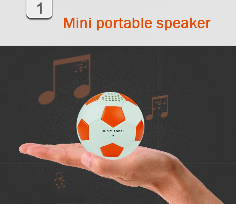 Шаровой мини-динамик Bluetooth беспроводной сабвуфер компьютер аудио колонки 600 мАч аккумулятор питания