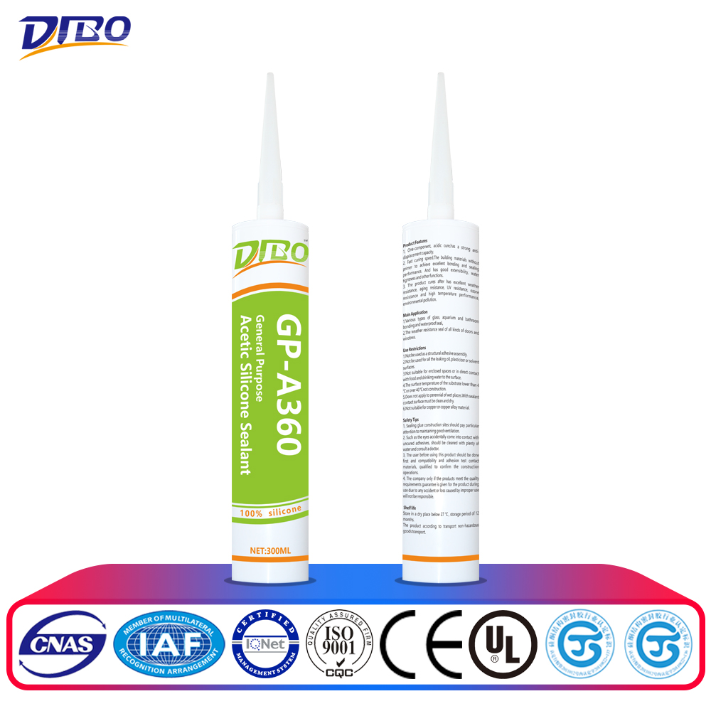 GP clear acetic silicone sealant