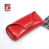 Factory Price wine red pu sunglasses box custom leather eyeglasses case /Bag Sunglasses