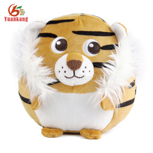 Forest animal ball style soft plush tiger toy