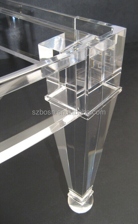 rechteck klaren acryl couchtisch moderne stil plexiglas m bel console buy product on. Black Bedroom Furniture Sets. Home Design Ideas
