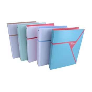 Eco-Friendly office products pp file folder,metal ring a4 file folder,hardcover recycled binder file custom folder