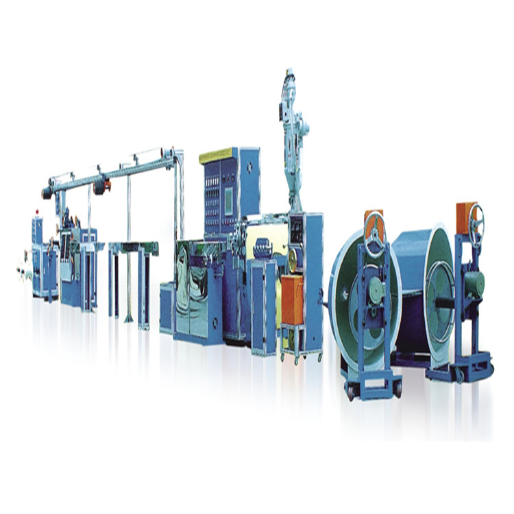 Factory price SJ-120DL <strong>PE</strong>.PVC double core wire and cable extrusion production line