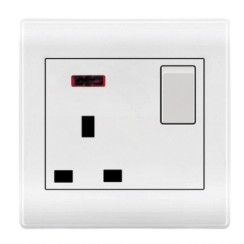 1 Gang 13a Socket Wall Switch Socket With Led Indicator Light Buy
