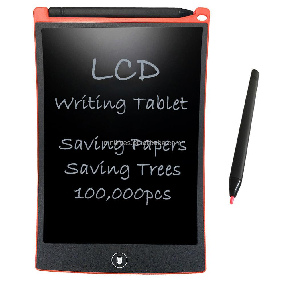 "Electronic Teaching Board 12"" LCD Writing Pad Graphics Tablets 6 Color Kids Digital Writing Board"