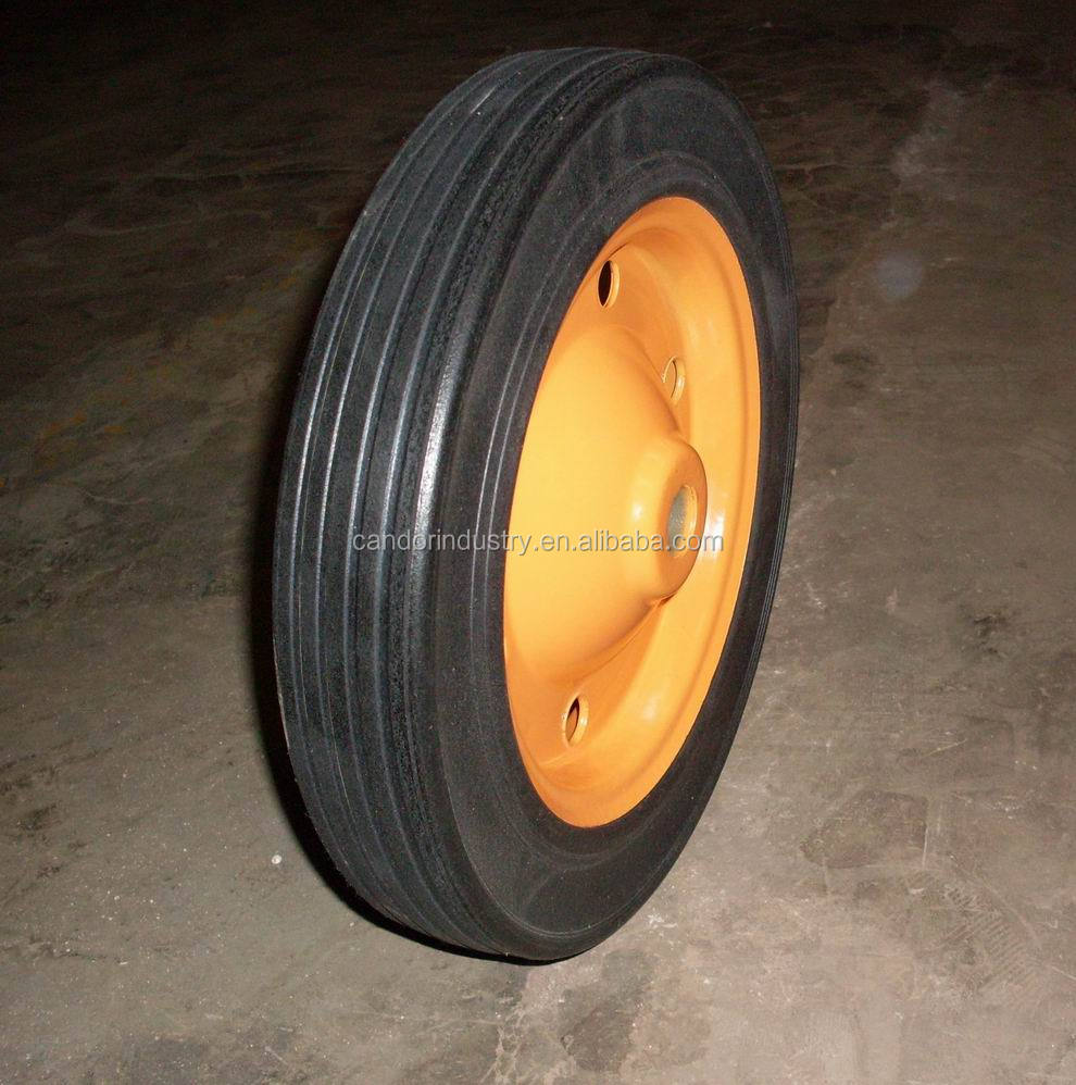 high quality 13x3 solid rubber wheel for wheel barrow